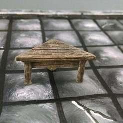 Imprimir en 3D gratis Mesa de esquina de 28mm, Curufin