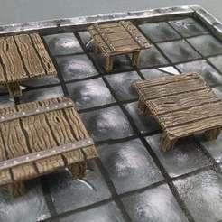 Descargar Modelos 3D para imprimir gratis Tablas cuadradas de 28mm, Curufin