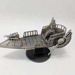 Descargar archivo 3D gratis Skiff pirata de ciencia ficción, Curufin