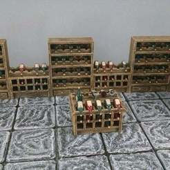 Imprimir en 3D gratis Accesorios para bodegas de vino de 28mm, Curufin