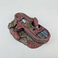 IMG_20200208_083613.jpg Download free STL file Sci-fi Landspeeder Junked • Object to 3D print, Curufin