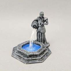 Download free STL files 28mm Fountain of the Alewife, Curufin