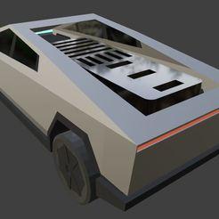 teslacards4.JPG Download STL file Tesla CyberTruck SD Card & Flash Memory Holder • 3D printer template, EngBlendz