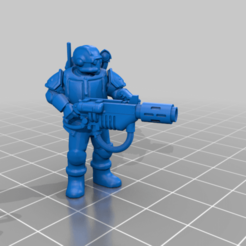 ScionwMeltagun.png Download free STL file Elite Imperial Space Storm Trooper Scions with Special Weapons • 3D printer template, codewalrus