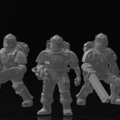 Thralls.PNG Download free STL file Technology Thralls with Combat Blades • Object to 3D print, codewalrus
