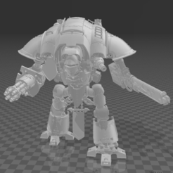 Knight.PNG Download free STL file Imperial Warrior • 3D printable template, codewalrus