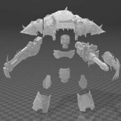 Chaosv4.jpg Download free STL file Chaos Warrior Upgrade Kit • 3D print model, codewalrus