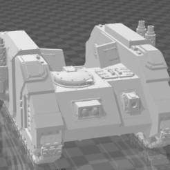 front.jpg Download free STL file Legion Siege Tank Hull • 3D printable object, codewalrus