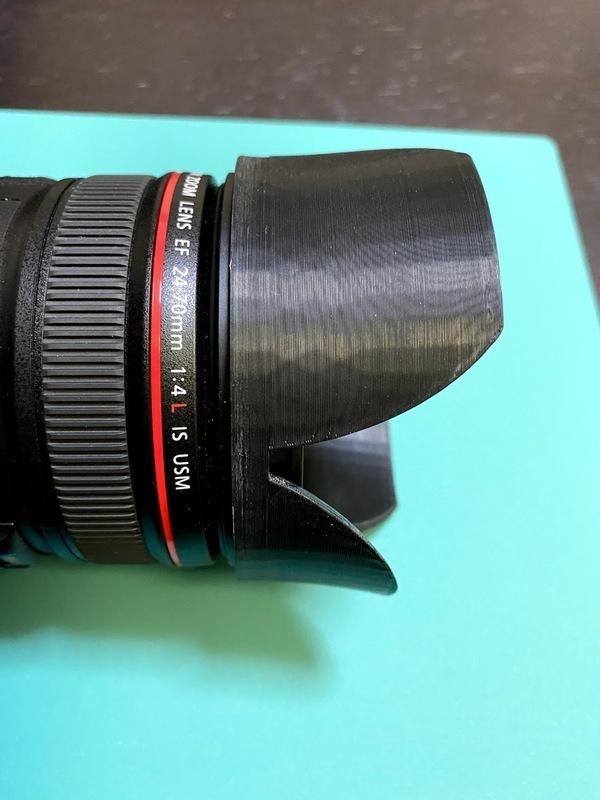 lens_hood_on_lens_2.jpg Download free STL file Canon lens hood • Object to 3D print, Usachu