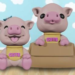 Download 3D printer files Piggy bank, markdeyaboo