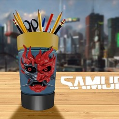 Cyberpunk 2077 Samurai Vaso 00.jpg Download STL file Cyberpunk Samurai Cup 2077 Fan ART • 3D printer model, markdeyaboo