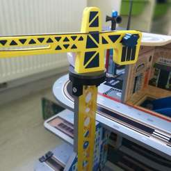 IMG_20200406_155412.jpg Download free STL file Train BRIO fixation grue - Wood train • Object to 3D print, bardinluc07
