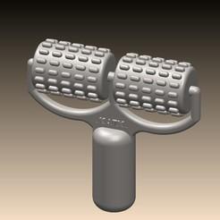 RODILLO DOBLE2.JPG Download STL file Double massage roller • 3D print model, KATX