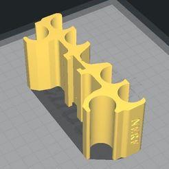 Accessoire Dart Rail Nerf Mega.JPG Download free STL file Nerf _ Mega _ Dart Rail Accessory • 3D printing model, legendredavid27