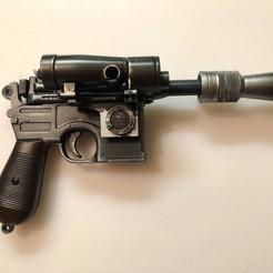 Télécharger plan imprimante 3D Han Solo Hoth DL-44, NewbombedTurk
