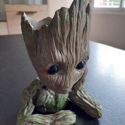 Impresiones 3D Baby Groot, Backspace