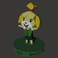 Download 3D printing designs Isabelle Animal Crossing Retro, OffSetEyeBrow