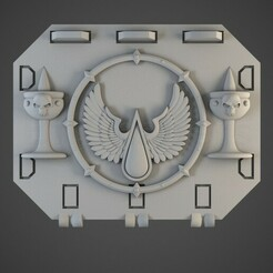 bloodangel01.jpg Télécharger fichier OBJ Des anges furieux repoussent les portes de réservoir • Objet pour impression 3D, BitShapers
