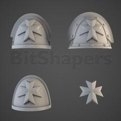 black_templars_shoulders.RGB_color.0013.jpg Télécharger fichier OBJ Les croisés de l'épaulement • Design imprimable en 3D, BitShapers