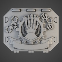 iron_hands01.jpg Download OBJ file Fist of Steel Repulse Tank Doors • 3D printer model, BitShapers