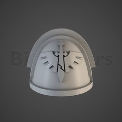 DW.RGB_color.0001.jpg Download OBJ file Angels of Hell Veteran Company Shoulders • Design to 3D print, BitShapers
