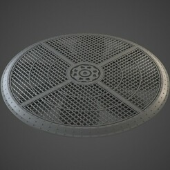 WTC_vent7_01.jpg Download OBJ file Industrial Vent Terrain 7 inch • Template to 3D print, BitShapers