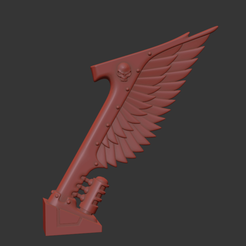 wing_back_OLD.png Download OBJ file Back Wings for old Angels of Hell • 3D printer template, BitShapers