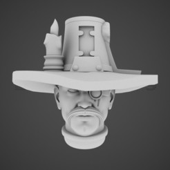 front.jpg Download OBJ file Inquisitor Head • 3D printer model, BitShapers