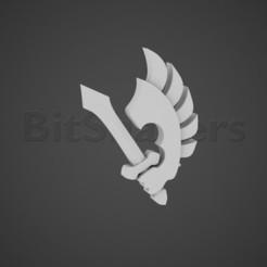 ravenwing.jpg Télécharger fichier OBJ Marquage de la compagnie Riders of Angels of Hell • Objet imprimable en 3D, BitShapers