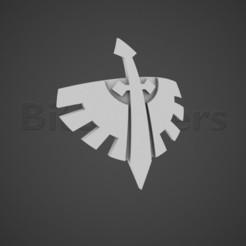 chapter_insignia.jpg Télécharger fichier OBJ Marquage des chapitres des Anges de l'enfer • Plan pour impression 3D, BitShapers