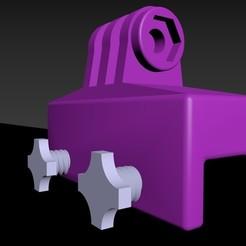 Bk.jpg Download STL file Samsung GoPro Screen Support • 3D print template, Zaarek