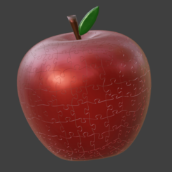 2020-05-18 17_10_41-Blender_ [D__3D_Printing_Blender_files_Apple_Puzzle_apple_Puzzle.blend].png Download free STL file 3D Apple Puzzle • 3D printer template, geomatico