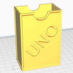 Descargar diseños 3D gratis CAJA PLÁSTICA, CARTAS UNO, nicolastedeschi922