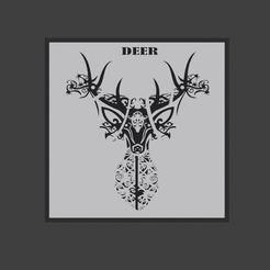 Télécharger fichier STL gratuit Art du mur des cerfs. • Modèle pour imprimante 3D, ronnie_yonk