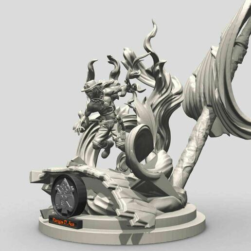 8.JPG Download STL file Portgas D. Ace - One Piece 3D printable • 3D print model, ronnie_yonk