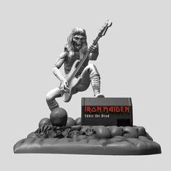 6.JPG Télécharger fichier STL Eddie (Iron Maiden) - Impression 3D • Objet à imprimer en 3D, ronnie_yonk