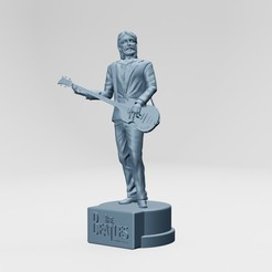 1.jpg Download STL file Paul McCartney, The beatles, rooftop concert • Model to 3D print, ronnie_yonk