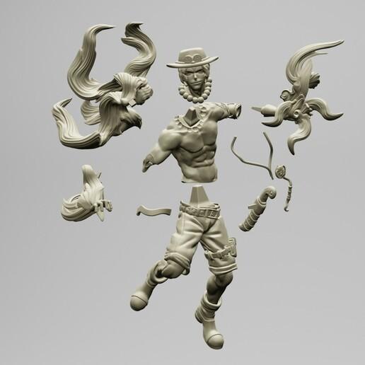 1.jpg Download STL file Portgas D. Ace - One Piece 3D printable • 3D print model, ronnie_yonk