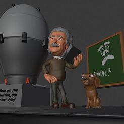 Capture 1.JPG Télécharger fichier OBJ Albert Einstein 3D PRINT • Objet pour imprimante 3D, ronnie_yonk