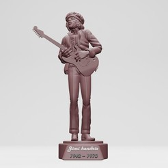 1.jpg Download STL file Jimi Hendrix - 3DPrinting • 3D printable object, ronnie_yonk