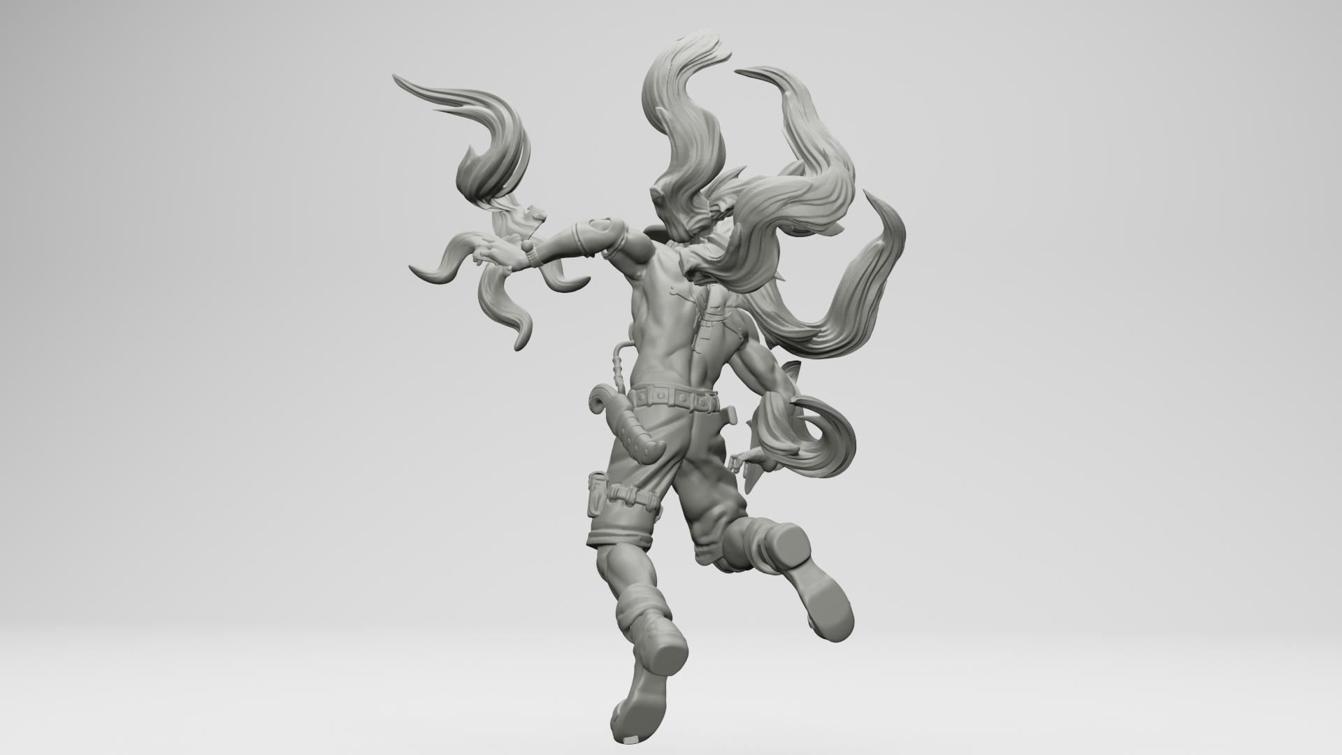 15.jpg Download STL file Portgas D. Ace - One Piece 3D printable • 3D print model, ronnie_yonk