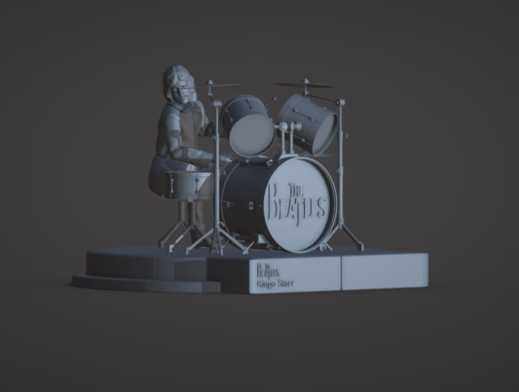 Download 3d Printing Designs Ringo Starr The Beatles Rooftop Concert Cults