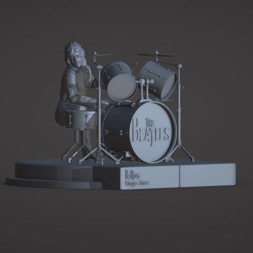 Download 3D-printontwerpen Ringo Starr, the Beatles, rooftop concert, ronnie_yonk
