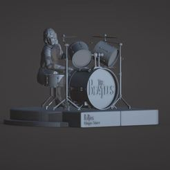 Download STL file Ringo Starr, the Beatles, rooftop concert • 3D print object, ronnie_yonk