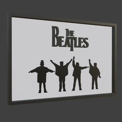 Download free 3D printer designs The beatles, ronnie_yonk