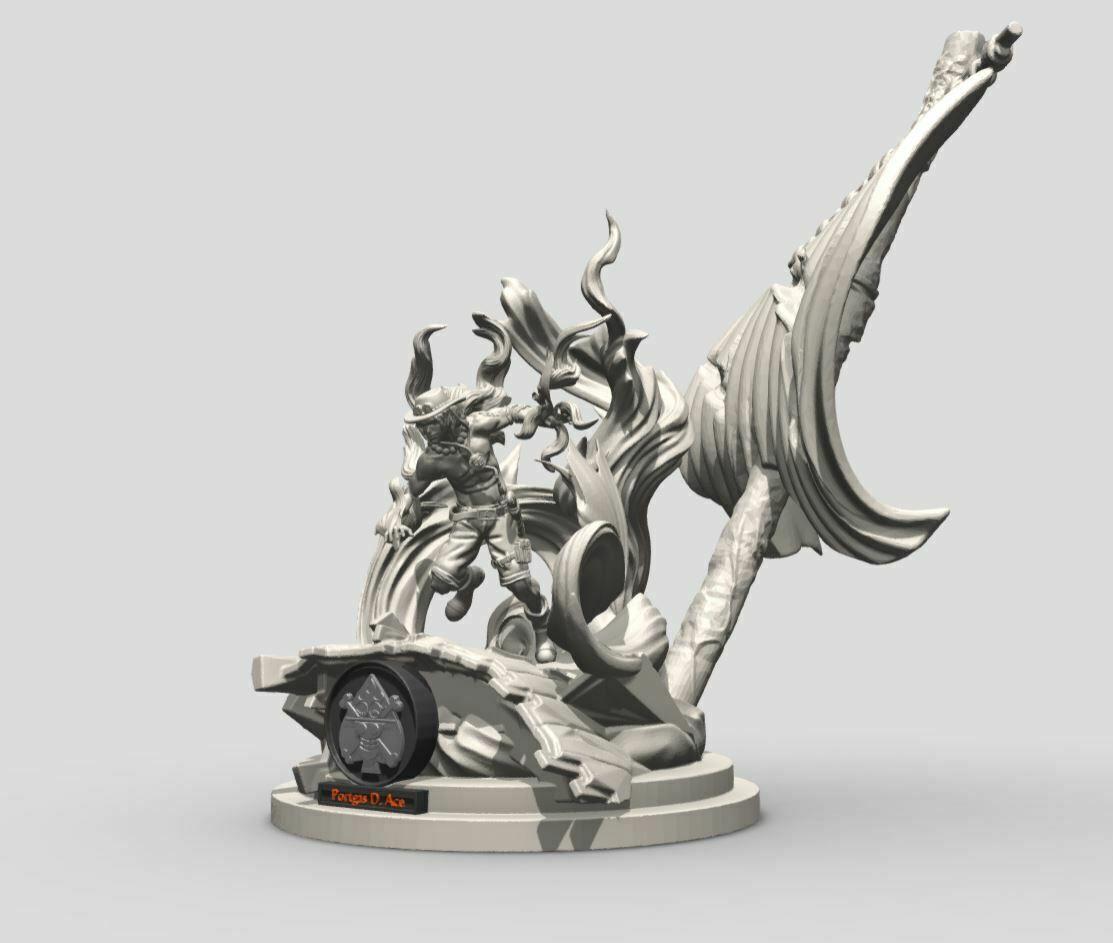 10.JPG Download STL file Portgas D. Ace - One Piece 3D printable • 3D print model, ronnie_yonk