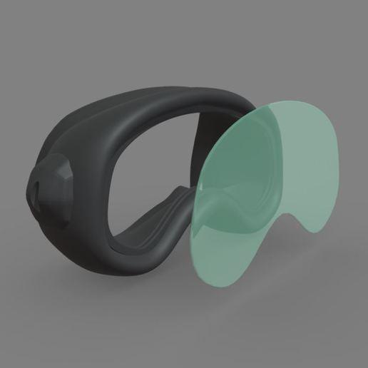 Télécharger modèle 3D gratuit impression 3d de googles rubber, ronnie_yonk