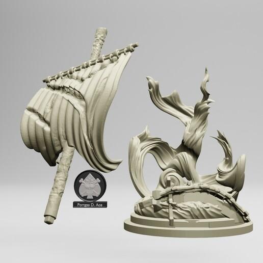 3.jpg Download STL file Portgas D. Ace - One Piece 3D printable • 3D print model, ronnie_yonk