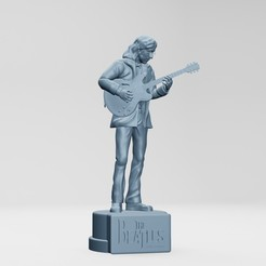 1.jpg Download STL file John Lennon, the Beatles, rooftop concert • 3D printing object, ronnie_yonk