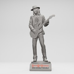 1.jpg Download STL file Stevie Ray Vaughan - 3D printable • 3D printable model, ronnie_yonk